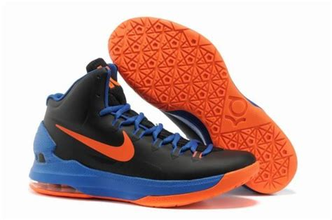 black and orange nike basketball shoes nike zoom kevin durant s kd v basketball shoes black royal