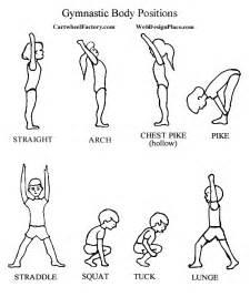 position coloring book basic gymnastics tumbling