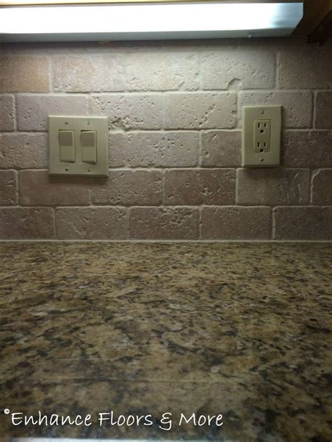 tumbled backsplash tile