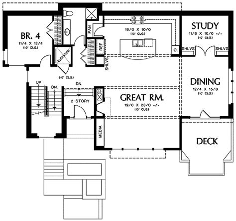 drive under house plans with elevator drive diy home plans house plan for hillside views 69453am 2nd floor master
