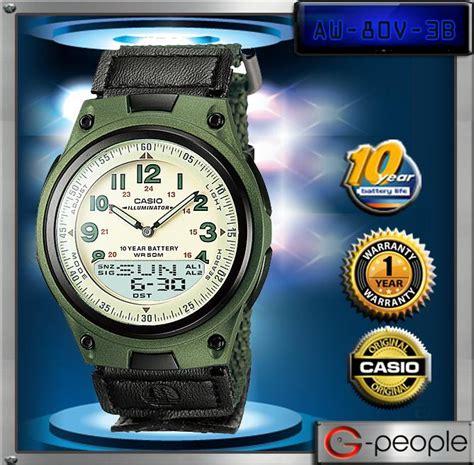 Jam Tangan Pria Casio Aw 80 2bv Original 100 jual casio aw 80v 3b original casio original jam