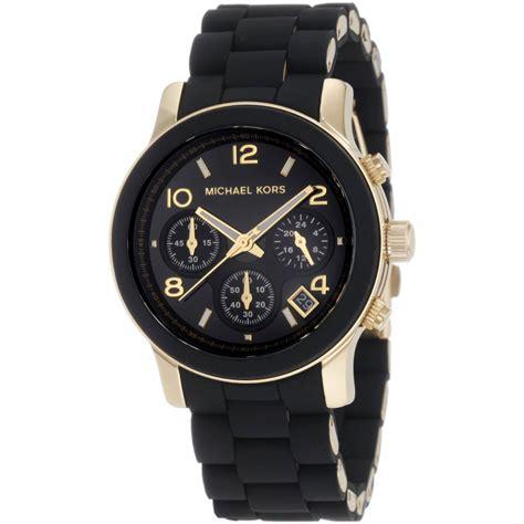 Mk Black michael kors runway chronograph black gold bracelet mk5191