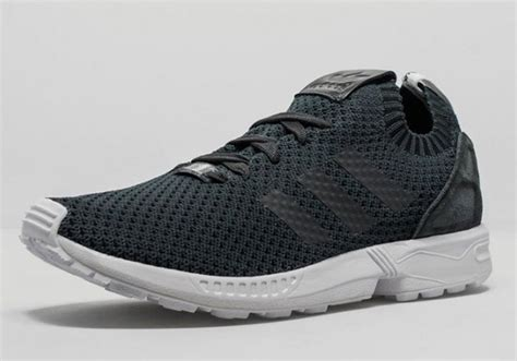 Adidas Zx Flux Prime Knit Black White adidas brings the nmd primeknit look to the zx flux
