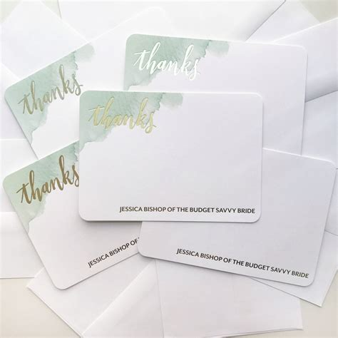 Wedding Stationery Paper by Wedding Thank You Note Tips Personalized Stationery