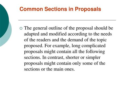 proposal sections ppt proposal writing powerpoint presentation id 484126