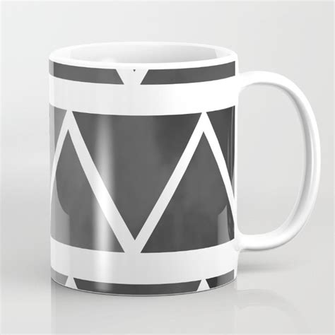 modern mug black modern mug coffee mug original art coffee cup