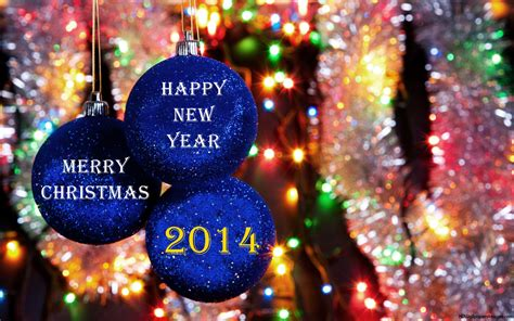 merry christmas and happy new year 2014 blue christmas