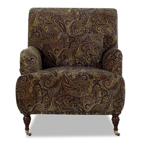 Accent Chair With Wheels Klaussner Chairs And Accents 2010 C Dapper Accent Chair With Front Leg Casters Dunk Bright