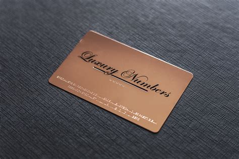 and cards project luxury numbers impression de luxe