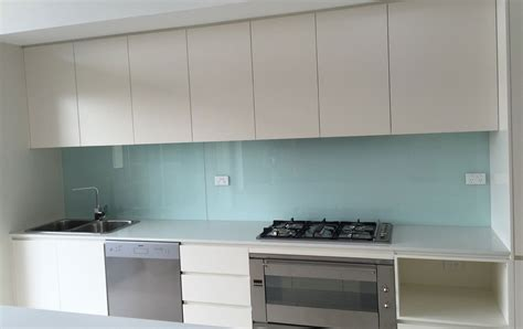 Clear Canisters Kitchen Coloured Glass Kitchen Splashback Installation By Express