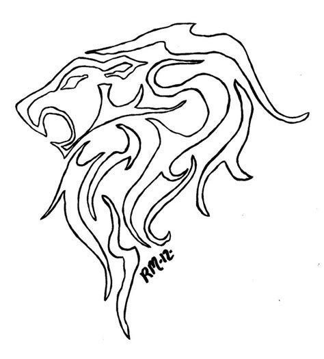 image gallery lion outline tattoo