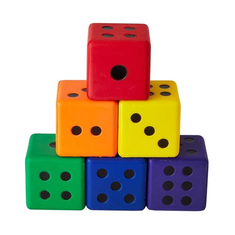color dice colored dice set of 6 flaghouse