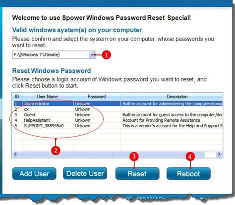 windows password reset special how to override remove windows 7 vista and xp admin password