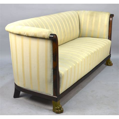 antique neo classical style macassar sofa with