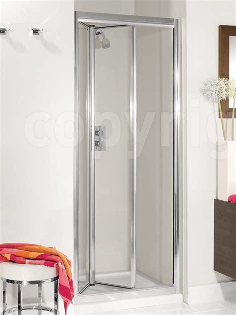 Simpsons Supreme Silver Framed 600mm Plus Bifold Door 7230 600mm Shower Door