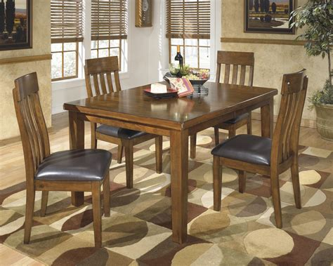 dining with leaf extension signature design ralene casual 5 piece dining set