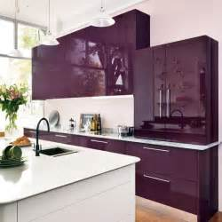 purple kitchen ideas mixed materials kitchen gloss kitchen ideas 10 ideas