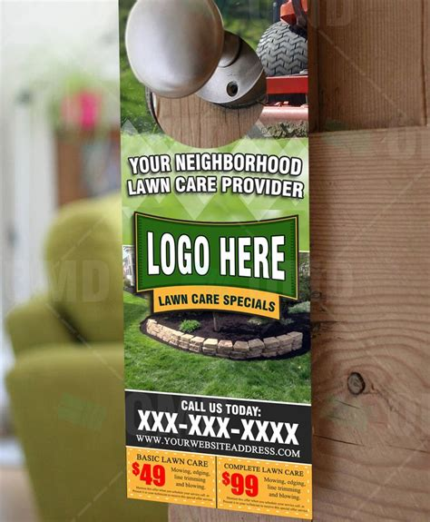 68 Best Lawn Care Marketing Images On Pinterest Lawn Care Door Hanger Template