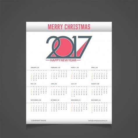 Calendario Moderno Moderno Calendario De Navidad De 2017 Descargar Vectores
