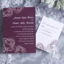 how in advance to order wedding invitations vintage plum wedding invitation cards ewi142 as low as 0 94