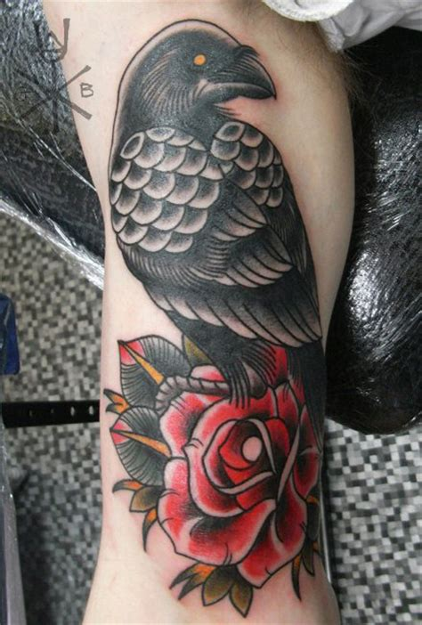 crow tattoo on