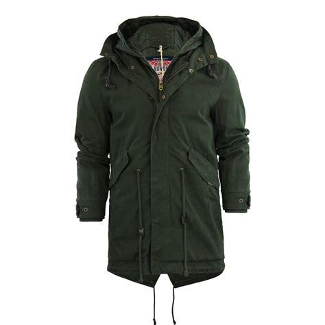 mens parka jacket tokyo laundry yoakam hooded cotton twill