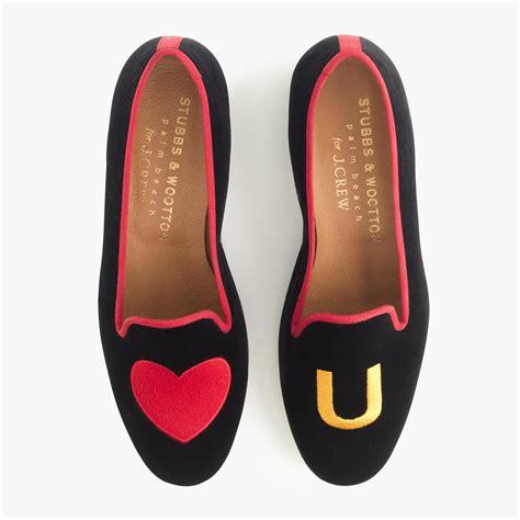 jcrew slippers lyst j crew stubbs wootton velvet slippers in black