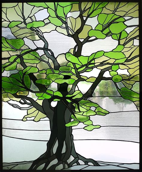 tree pattern pinterest 240 best trees leaves stained glass images on
