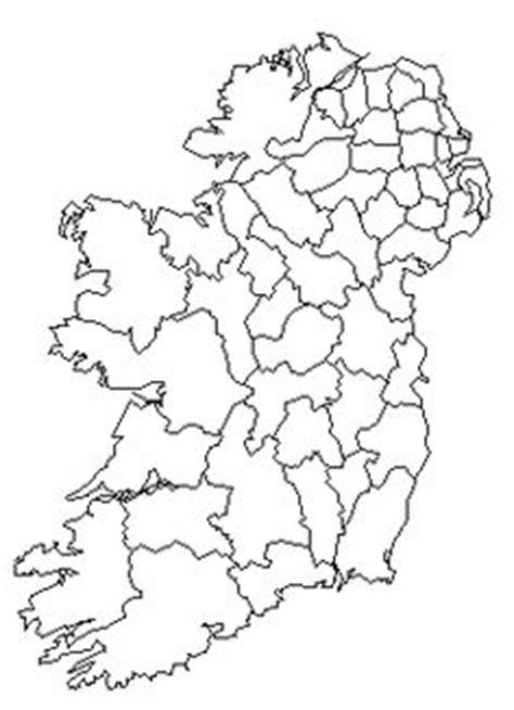 County Map Of Ireland Outline by Blank County Map Ireland Search Gaeilge Ireland Maps And Search