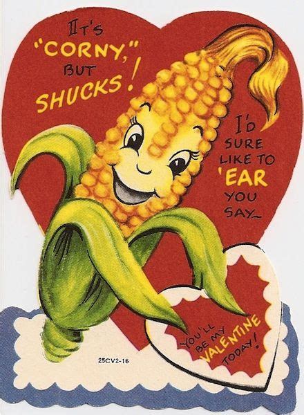 corny valentines day corny but food valentines vintage