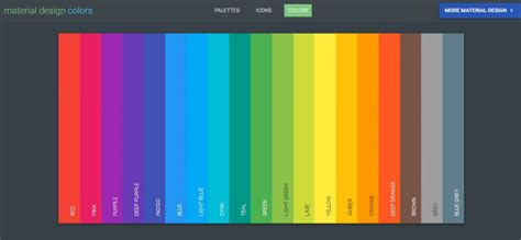 material colors best material design color palette generating tools on