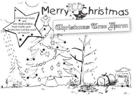 christmas tree farm coloring page real christmas trees environment