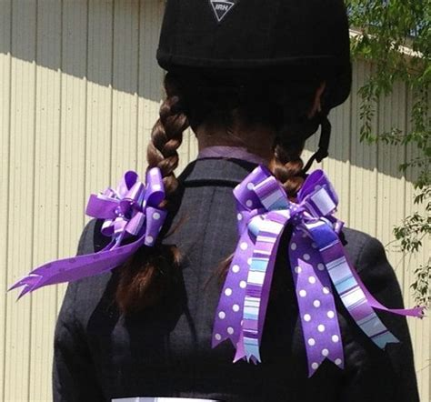how to make a horse show bow bows for horse shows purple equestrian clothing for pony