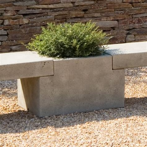 Limestone Planter by Cania International Modular Center Cast Planter