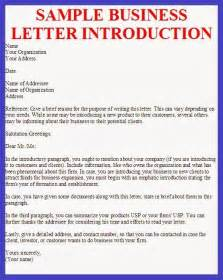 proper business letter of introduction letter format writing