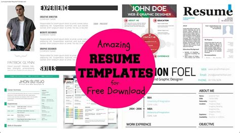 Free Cool Resume Templates by Free Cool Resume Templates Word Free Sles Exles