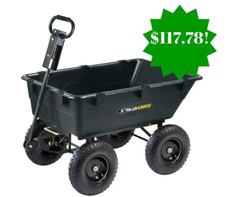 gorilla carts heavy duty garden poly dump cart only 117