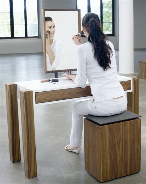 moderner schminktisch schminktisch quot art343 nussbaum mit lackierter fl 228 che