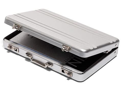 mini briefcase business card case thinkgeek