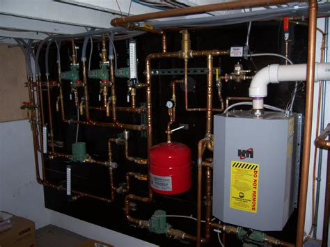 house water system design high eff hot water boiler with fast recovery hydro coils and radiant floor heating