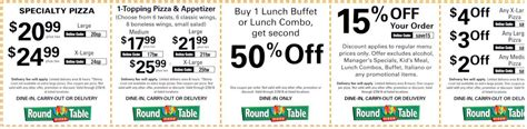 round table pizza coupons orange ca