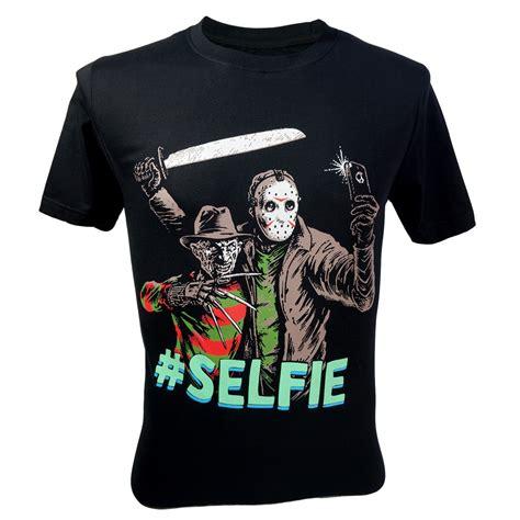 T Shirt Gallien Krueger Black immortal s freddy krueger vs jason 13th friday selfie t shirt black nwt t shirts tank tops