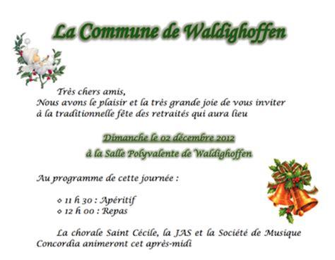 Modèle Lettre D Invitation Repas Invitation Repas Retrait 233 S 2012 Waldighoffen