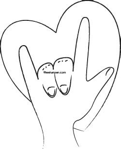 sign language i love you coloring pages sign language coloring page i love you