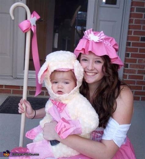 little bo peep and her sheep costume baby halloween