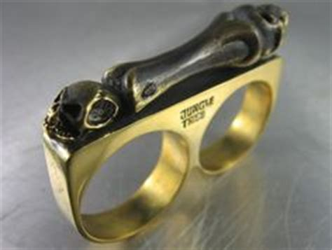 Promo Brass Knuckle Hitam Recomended brown bag paper with lute 1994 craft cookie mold new w tags biker rings and 925