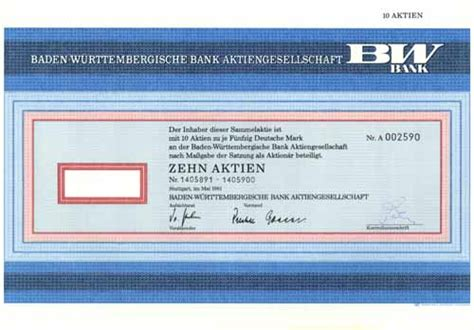 baden württembergische bank hwph ag historische wertpapiere baden w 252 rttembergische