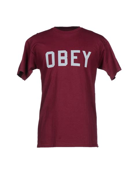 Tshirt Tshirt Obey obey t shirt in for garnet lyst