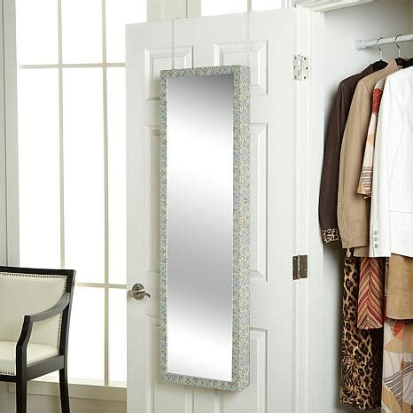 door mirror jewelry armoire over the door jewelry armoire with full length mirror hsn