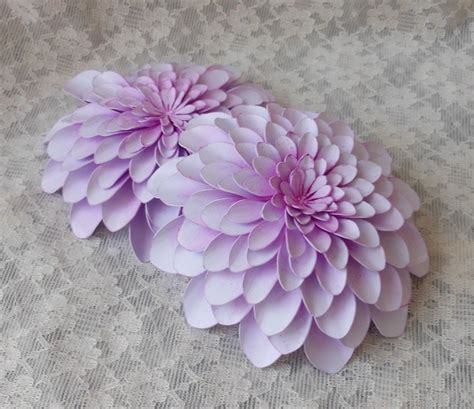 3d dahlia flower designed and cut on silhouette cameo